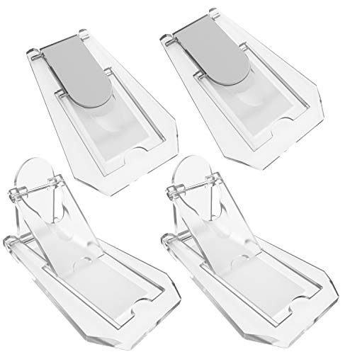 Sliding Glass Door Child Locks - Sure Basics 4 Pack Clear Child Safety Locks for Sliding Doors No Drill Required Keyless Sliding Door Locks with Double Sided Tape
