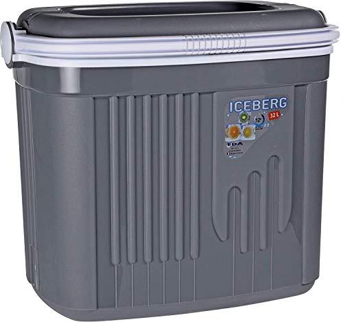 Iceberg 32 liter of 8 liter koelbox picknick geïsoleerde doos met vergrendelend deksel grijs