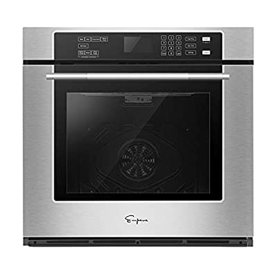 Empava 30 in Stainless Steel Single Wall Ovens with Self-cleaning Convection Fan Digital Touch Control Black