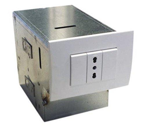 Cassaforte invisibile ad incasso, zincata, 1 cassetto e 1 vanno della stessa misura. Dimensioni 18X11X13 cm.