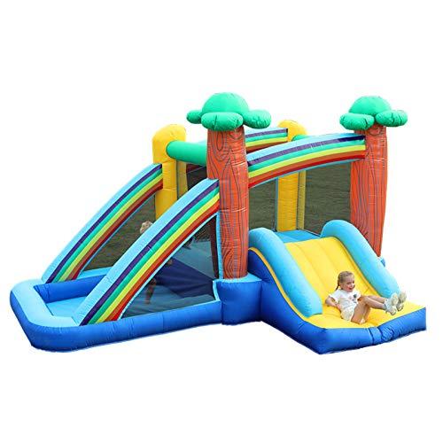 ZHENGRUI Piscina Hinchable Familiar Seguro Castillo Hinchable Centro De Juegos Inflables para El Jardín Exterior