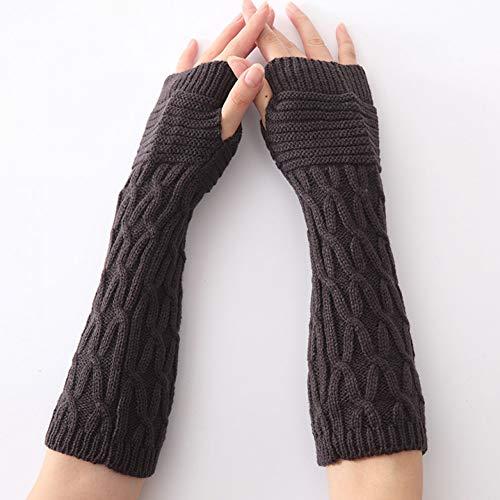 MKDASFD 2 Paar Mode Frauen Frühling Herbst Winter Finger Handschuhe Weibliche Handschuhe Erwachsene Feste Polyester Fäustlinge Wolle Arm Wärmer Handschuhe#4