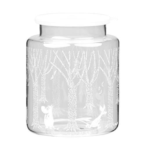 Moomin in The Woods - Tarro de cristal con tapa de silicona, diseño escandinavo, para decoración del hogar y mesa