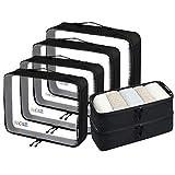 Bagail 6 Set Packing Cubes,3 Various Sizes Travel Luggage Packing...