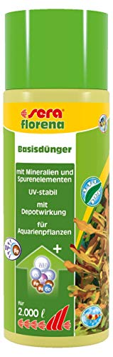 sera florena Basisdünger mit Mineralien und Spurenelementen, UV-stabil, Dünger für Aquarienpflanzen, 500 ml