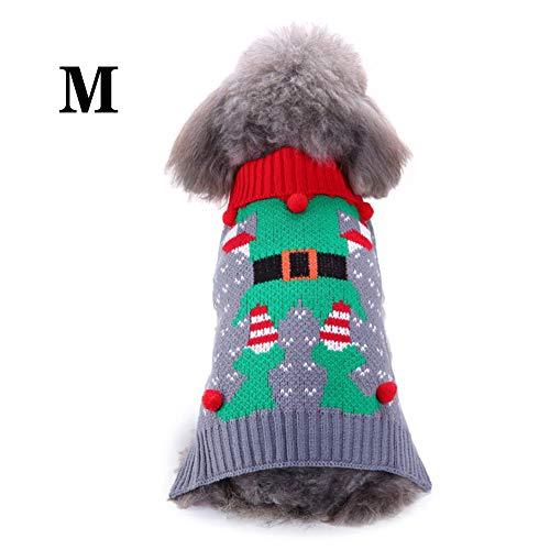 DHQSS hondenkleding hondenpullover hondenkat vest winter herfst warme hondenjas hondenjas voor chihuahua pullover hoge schattige Noors winterpulli voor kleine honden