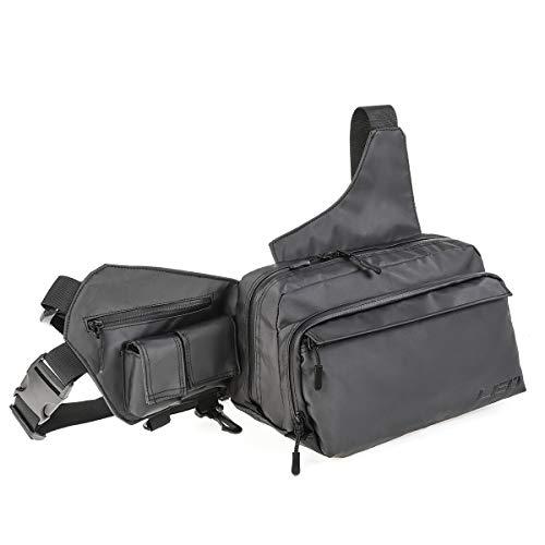Leo Waterproof Waist Lure Fishing Bag Portable Multifunctional Fishing Tackle Bag Fishing Gear Storage for Fishing Hiking Climbing