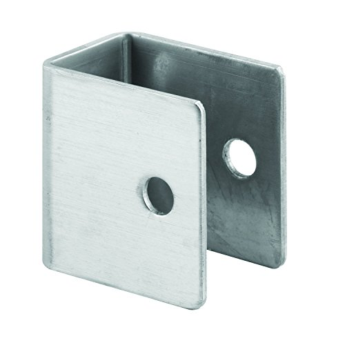 Sentry Supply 656-8196 'U' Bracket, For 3/4 In. Panels, Stainless Steel Construction (Stamped), Satin Finish, Installation Fasteners, Pack of 1