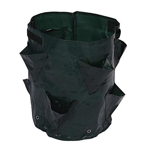 Bolsa de cultivo de macetas, bolsas de macetas de jardín para plantas de jardín al aire libre con 8 bolsillos laterales