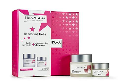 Bella Aurora - Pack Bella Dia Piel Seca 50ml + Contorno de Ojos Bella 20ml | Caja de Regalo | Hidratante | Anti-edad | Anti-arrugas