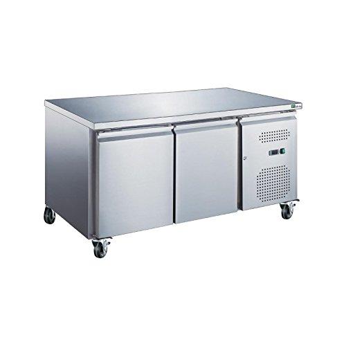 Table frigorifique GN 1/1 intérieur et extérieur inox ouverture 2, 3, ou 4 portes - 2 portes - Sans dosseret