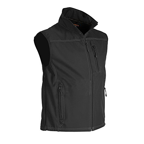 Blåkläder Workwear 8170 - Gilet in softshell con funzione stretch, L, Nero