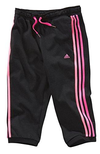 adidas Essentials 3/4–Pantalones para Mujer de la niña, Black/Pink