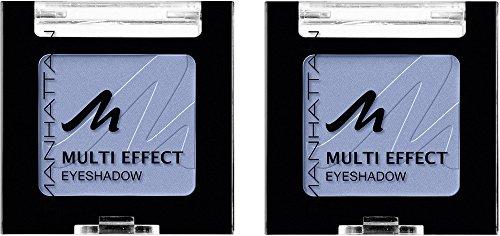Manhattan Multi Effect Eyeshadow – Hellblauer, matter Lidschatten in handlicher Dose, farbintensiv...