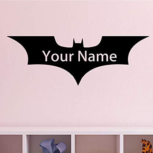zaosan Patrón de murciélago Etiqueta de La Pared Pegatinas de Pared Extraíbles Nombre DIY Wallpaper para la Sala de Estar Dormitorio Stikers para Decoración de Pared Muralescm 157x55cm