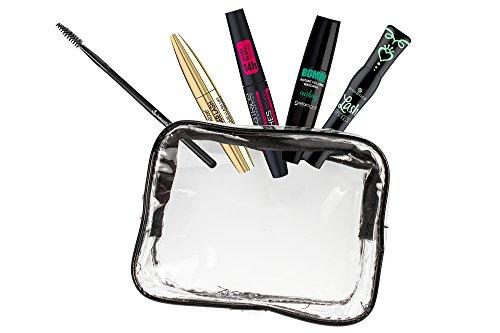 Lot de 4 mascaras pour les yeux, 1 pinceau pour les yeux et 1 étui de beauté pour 6 produits L'ensemble se compose des 6 pièces.