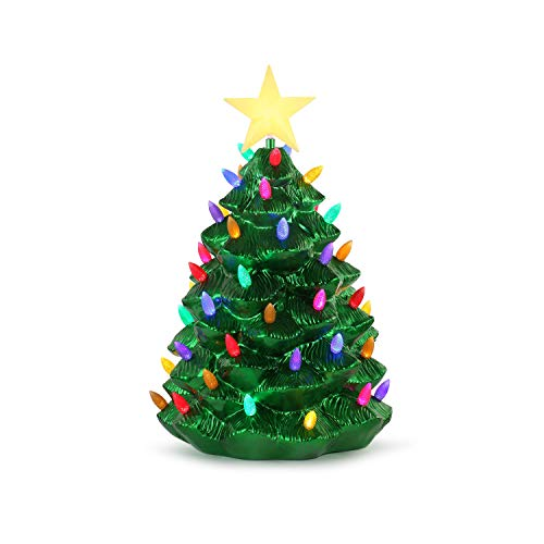 Mr. Christmas 24' Outdoor Blow Mold Nostalgic Tree - Green Metallic Christmas Décor, inch