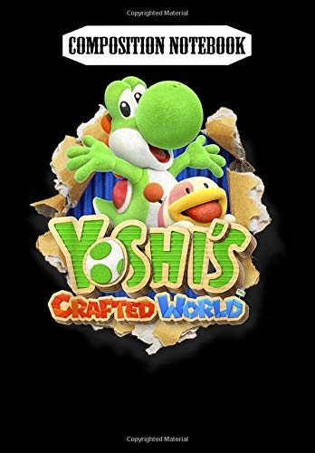 Composition Notebook: Yoshi's Crafted World Poochy Burst Game Logo Graphic, Journal 6 x 9, 100 Page Blank Lined Paperback Journal/Notebook