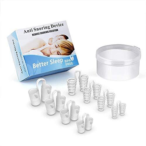 FANPING Anti Snore Devices, schnarch Aids, 2-in-1 Schnarchstopper und Atemluftreiniger, Nasen- Vents Nasendilatator, Schnarchen Relief for bequemes Schlafen (Color : White-8)