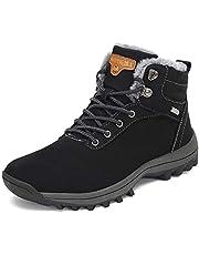 [Putu] ハイカット 防水 防滑 裏起毛 スノーブーツ 雪靴 男女兼用 登山靴 耐磨耗 衝撃吸収 防寒ブーツ アウトドア ハイキングブーツ