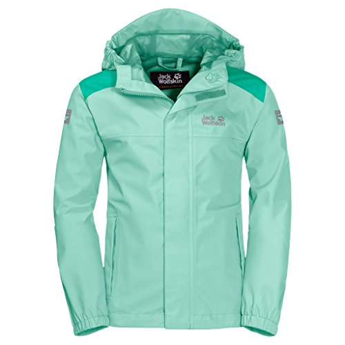 Jack Wolfskin Oak Creek Jacket voor kinderen, ademend, waterdicht, winddicht, reflectoren voor outdoor, weerbestendig, regenjas, weerbestendige jas