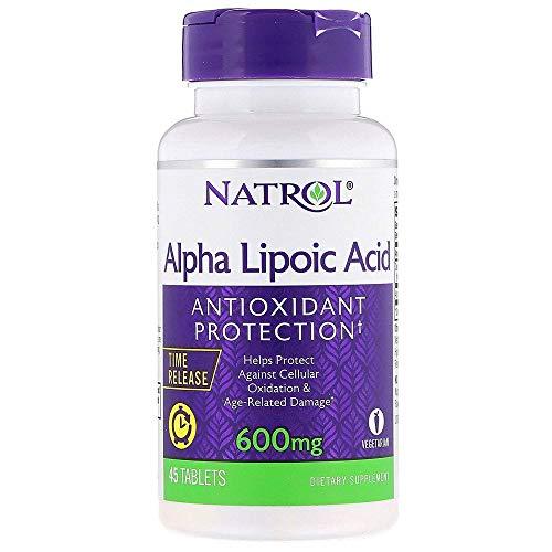 Natrol Alpha Lipoic Acid Time Release - 600 mg - 45 Tablets by Natrol