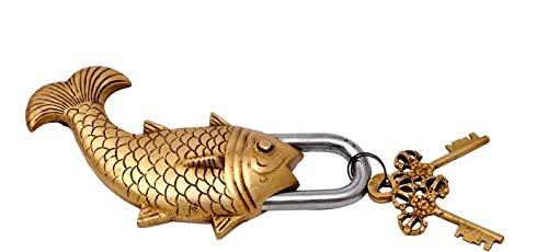 Brass Blessing : (Fish - Brass Finish