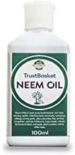 TrustBasket neem Oil for Plants (100ml) - Organic eco-Friendly Pesticide to Reduce Harmful pest and fungs from All Kinds of Plants Like Herbs, Flowers and Veggies.