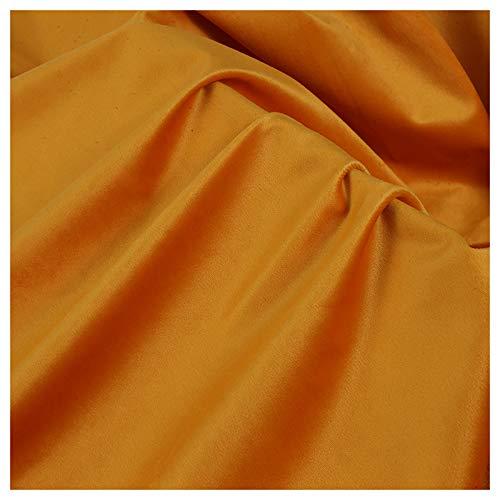 Tejido De Terciopelo Amarillo Anaranjado Tejido De Terciopelo Terciopelo Holandés Opaco Tejido De Base Bordado Terciopelo Lisi Cortina De Almohada para Sofá(Size:1.5M*3M,Color:Naranja)
