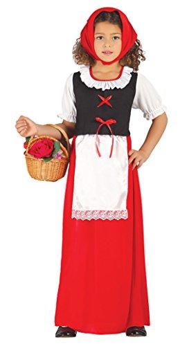Guirca- Disfraz infantil de pastora, Color rojo, 7-9 años (42484.0)