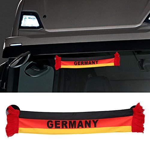 TRUCK DUCK® LKW Auto Germany Deutschland Mini Schal Wimpel Flagge Saugnapf Spiegel Deko 45x8cm