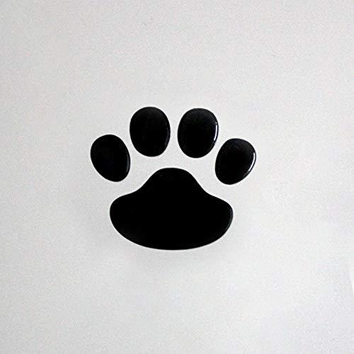 Autosticker, 3D-hond beer, voetafdrukken, chroom, badge, embleem, autosticker, sticker