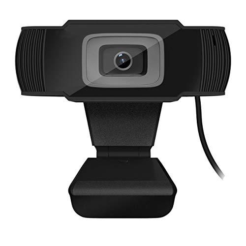 Tree-es-Life 30 Grados Cámara Web 2.0 HD giratoria Cámara USB Cámara de grabación de Video con micrófono para computadora PC Negro 480p