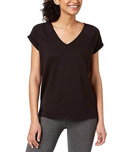 Ideology Womens Fitness Yoga T-Shirt Black M