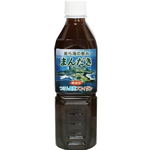 美ら海の恵み まんだき 500ml 6本×2箱 つけん島モズク事業協同組合 沖縄県つけん島もずくを100%使用 モズクから抽出した手間のかかったエキス フコイダンたっぷり 注目の健康飲料