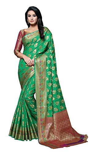 Soru Fashion Women's Kanjivaram Banarasi Art Silk Jacquard