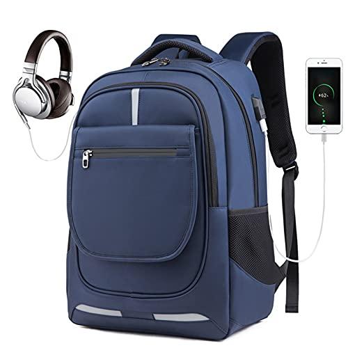 LHY Mochila de Viaje para computadora portátil, Mochila de Negocios con Puerto de Carga USB, Mochila Escolar Impermeable para Hombres, Mochila de 17 Pulgadas Adecuada para el Trabajo,Gris