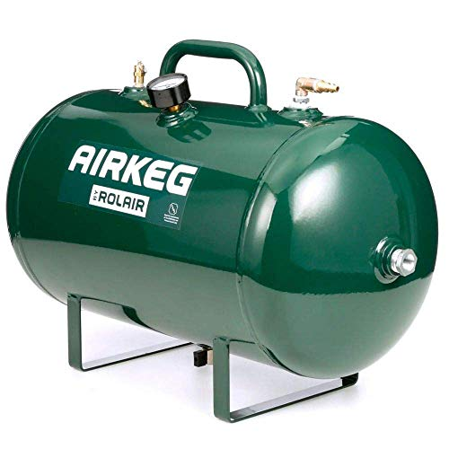 Rolair AIRKEG2 Heavy Duty 10 Gallon On the Go Lightweight Portable High Performance Steel Auxiliary Air Storage Tank
