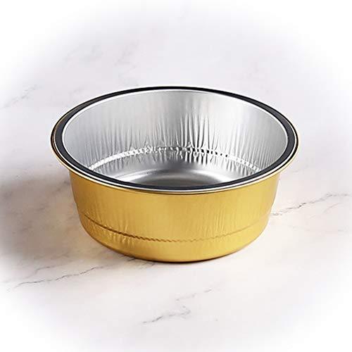 ZYYQ Einweg-Brotdose aus Aluminiumfolie,20PCS,Kann mit Deckel Abgestimmt Werden,Mikrowelle,Offene Flamme,Grillbox,Anwendbar für Fast-Food-Restaurants,Cafés,Dessertläden,Golden