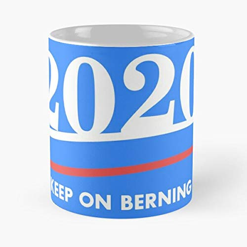 JewlR Keep Sanders Trump Hillary On 2016 Berning Donald Bernie Clinton 2020 Best 11 oz Kaffeebecher - Nespresso Tassen Kaffee Motive
