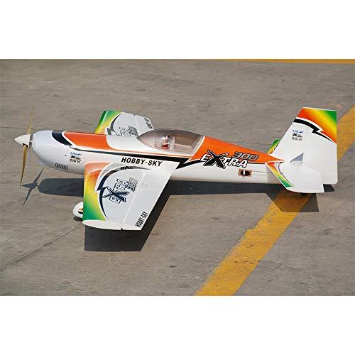 HUDEMR Control Remoto Aviones Envergadura 1200 mm 3D acrobático Aviones Avión de Acrobacias RC Avión Kit/PNP Color de la Foto para Adultos y niños (Color : Multi-Colored, Size : Kit)