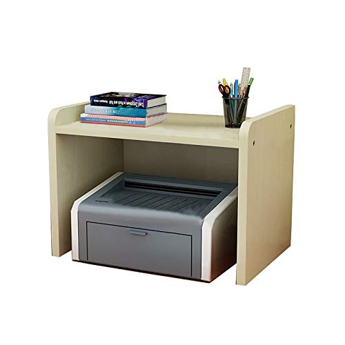 Printer Shelf, Desktop Shelf, Storage Shelf on The Desk, Heightened Copier Shelf, 1 Layer Density Board Large Document Shelf(45 * 30 * 30cm)