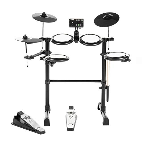 Fame DD-KIDDY V2 E-Drum Set (7-teiliges Elektronisches Schlagzeug für Kinder - Mesh Heads, 144 Sounds, 12 Kits, Drumsticks & Drum Key)