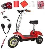 XWZG Tragbarer Elektroroller Erwachsene Mini Elektrisches Dreirad Falten 48 V Lithium-Batterie Ausdauer 35 km 350 Watt Batterie Auto kann Gewicht 100 kg standhalten