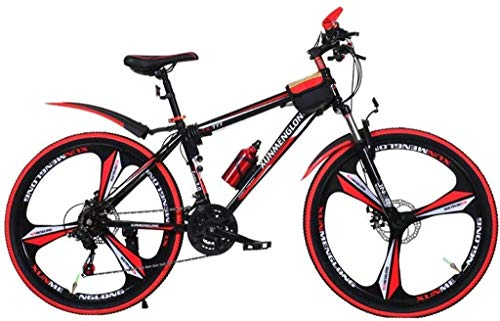 WHEEJE Carbon Steel Children's Mountain Bike Outdoor Summer Mountain Bike Children's Road Bike Boy and Girl 20 Inch Speed Adjustable Bike (Color : Red, Size : 20inch)