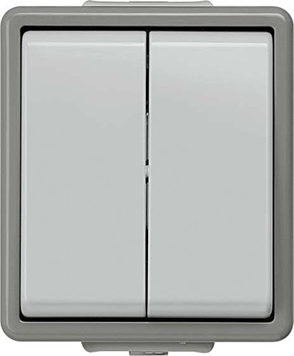 Bjc delta superficie SIEM AP-Serienschalter 5TA4705 dunkelgrau/hellgrau, Mehrfarbig
