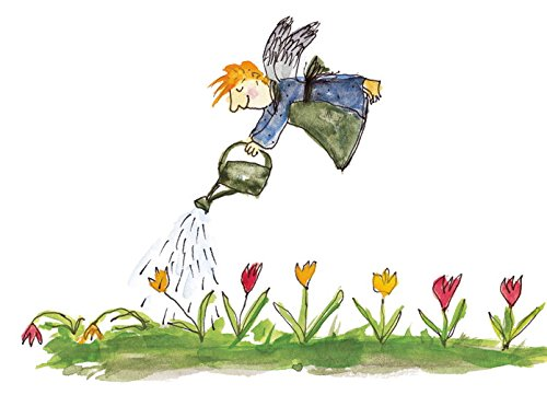 Postkarte A6 • 32815 ''Rettungsflieger'' von Inkognito • Künstler: Nele Andresen • Kinder/Märchen • Ostern • Blumen