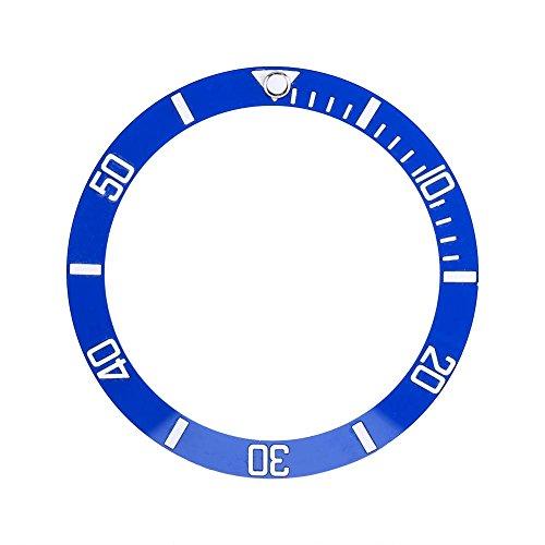 Sonew 4 Farben Ersatzteile Hohe Härte Neue Keramik Uhr Neue Leichte Uhr Armbanduhr LüNette Einsatz Schleife(Blau)