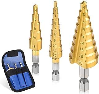 3 st/set 3-12 mm 4-12 mm 4-20 mm rak skåra steg borr titanbelagd trä metall hålskärare kärna borrverktyg set-Kina, set (3-...