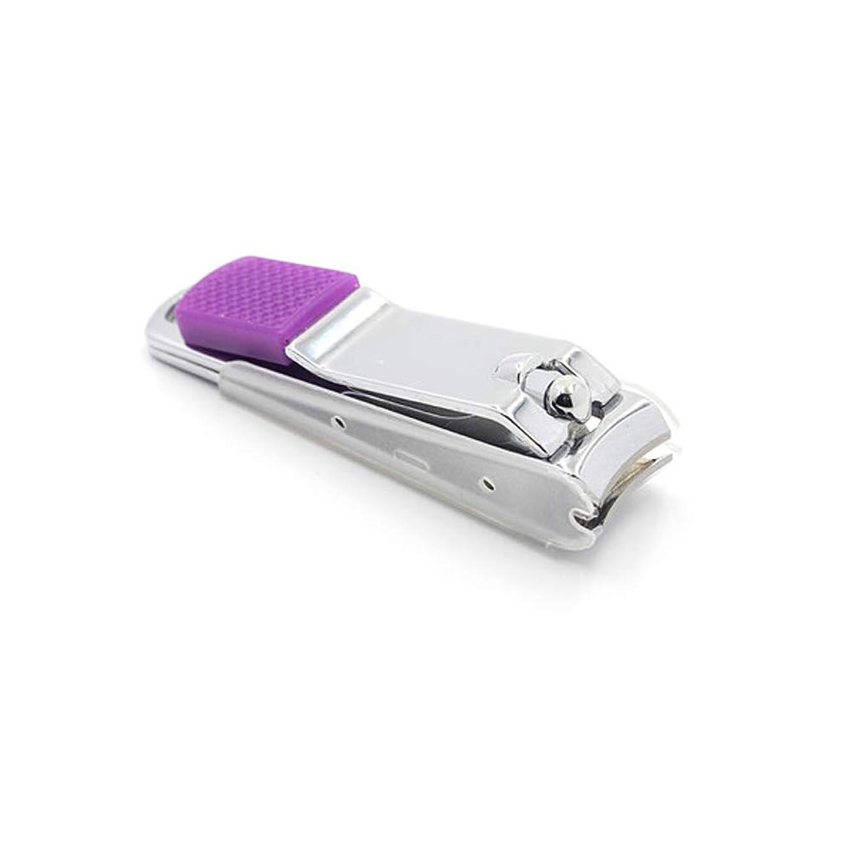 再生可能マーク高揚したステンレス鋼製爪切り飛び散り防止爪切り男女兼用 爪切り、ランダムな色